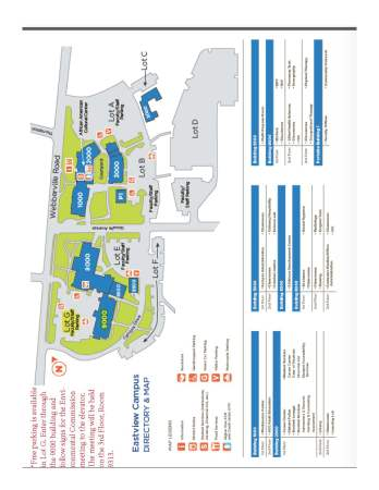 Map of Eastview Campus
